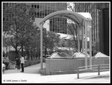 Subway Entrance (B&W)