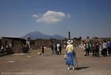 Pompeii Ruins With Vesuvius In The Background