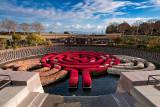 Flower circle maze, Getty Center