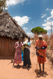 Masai family and their home