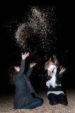 Rinat & Naomi throwing stones!