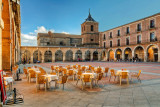 Superb square in Avila, Spain