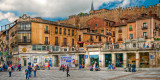 The plaza by the aqueduct, Segovia