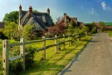 Thatched houses, Chantmarle, Dorset