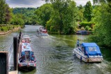 Coming and going, Marlow lock