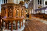 Pulpit, Romsey Abbey