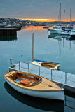 Wooden boat at sunset, Falmouth