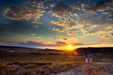 Wives and sunset, Bárdenas Reales