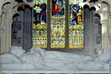 Milton Abbey ~ tomb and window