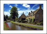 The village stream, Lower Slaughter, the Cotswolds