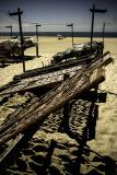 NAZARE pecheurs sur la plage