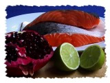 Pomegranate, Salmon and Lime