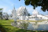Le Temple blanc du Wat Rong Khun à Chang Rai