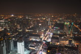 From the Bangkok's 360 ° revolving roof deck