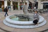 Place du marché à Nîmes, également appelée Place du crocodile.