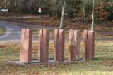 Les nouvelles structures en pierre du cimetière militaire de Wisches