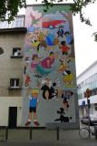 Comic strip murals in Antwerp