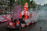 Canal Parade in Amsterdam during Gay Pride, August 4, 2012