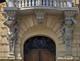 Szeged City Hall front door guardians