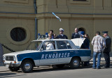 Szeged City Hall, the getaway car