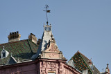 The pink house and its marvelous roof