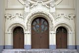 Secessionist synagogue doors