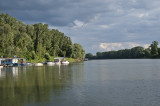 River Tisza from the car ferry