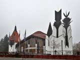 LENDVA (SLOVENIA) Theater in heavy fog