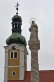 Madonna column, Miklós Jurisics tér