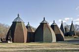 Yurt structures by Csete György