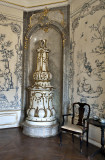 Opulent stove in the dining salon