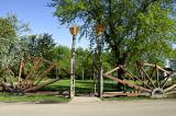 Makovecz-esque park entrance