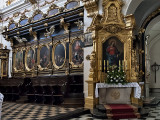 St. Florian's Church, choir stalls, altar