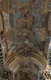 Piarist Church, nave frescoes