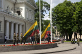 Presidential Palace, changing of the flag