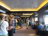 Waiting to disembark