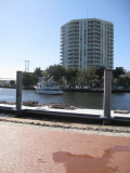 Along the riverfront
