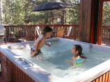 The hot tub was a real hit