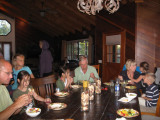 The rest of us eating dinner
