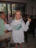 Olivia borrowed Julie's sweatshirt