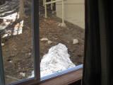 Snow outside Steve's window
