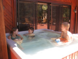 Hot tub at the Jack Circle house