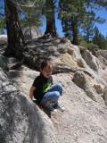 A small rock climber