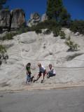 More rock climbers