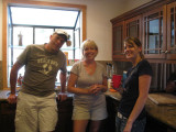 Posing in the kitchen of the Maryanne house