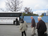 Back to the bus after our tour at Ames.