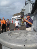 Our very knowledgeable guide on the USS Missouri