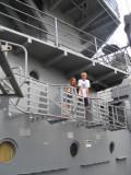 Climbing to the upper decks