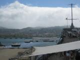 View of the USS Arizona from the USS Missouri