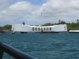 USS Arizona from the ferry